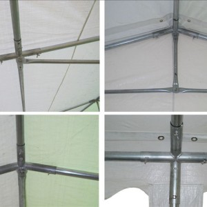 40 x 20 White PVC Combi Party Tent - Frame