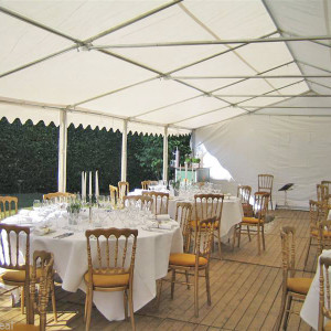 40 x 20 White PVC Combi Party Tent - Inside 2