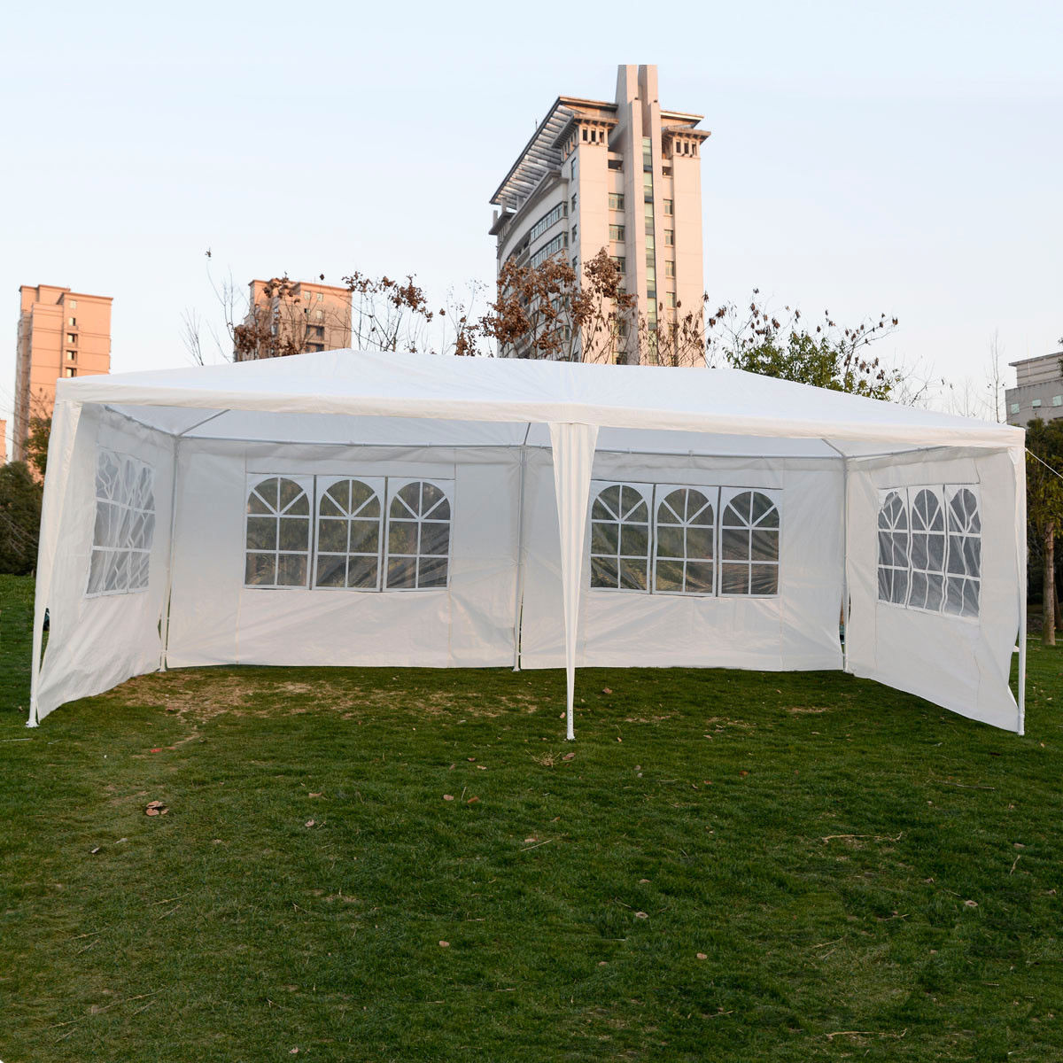 10 x 20 white party tent canopy gazebo w 4 sidewalls. Black Bedroom Furniture Sets. Home Design Ideas
