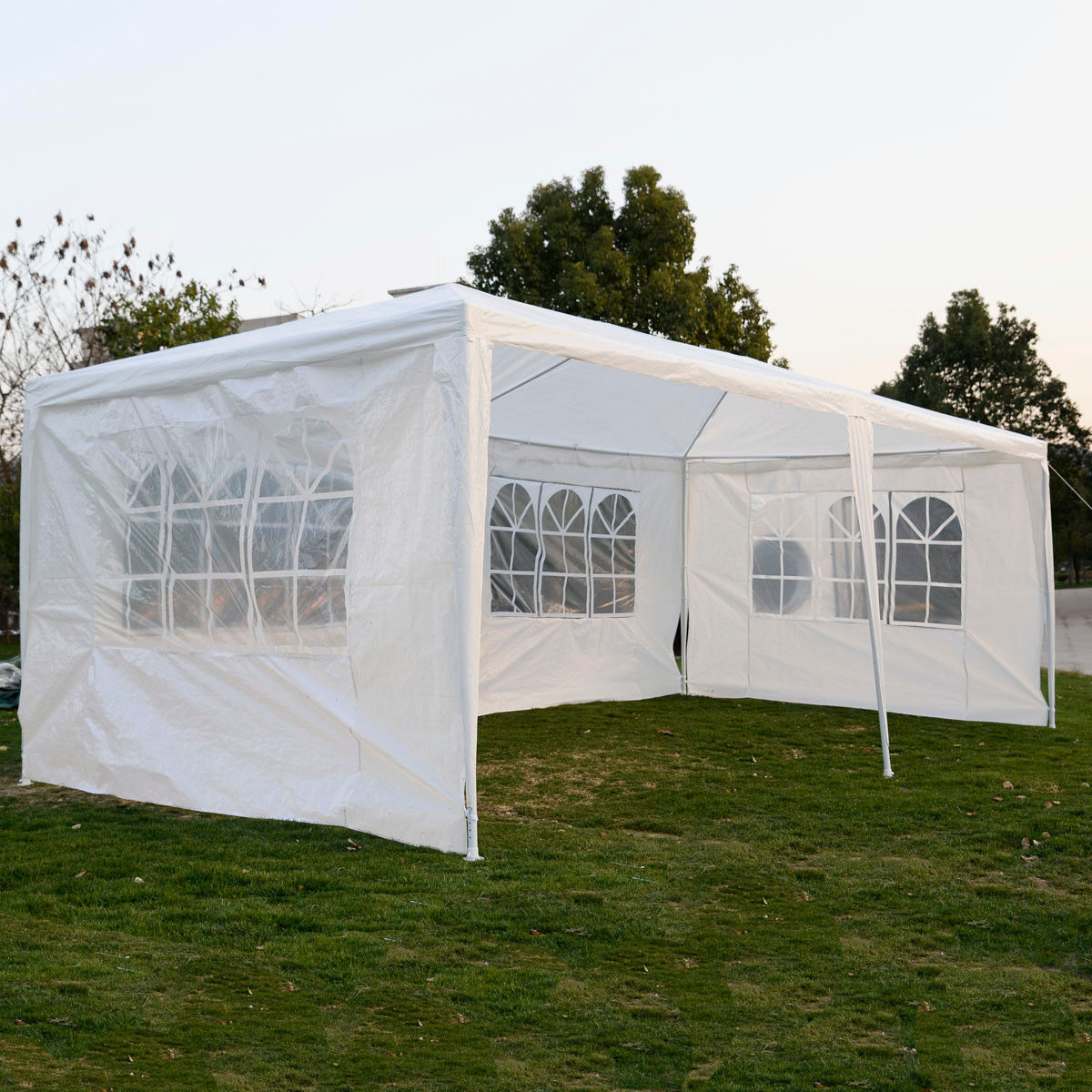 10 x 20 white party tent w 4 sidewalls. Black Bedroom Furniture Sets. Home Design Ideas