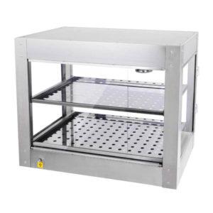 2 Tier Food Warmer Display Case Cabinet 2