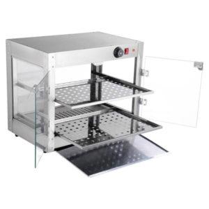 2 Tier Food Warmer Display Case Cabinet 3