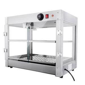 2 Tier Food Warmer Display Case Cabinet