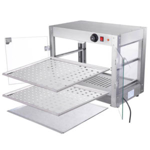 2 Tier Food Warmer Display Case Cabinet 4