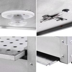 2 Tier Food Warmer Display Case Cabinet 6