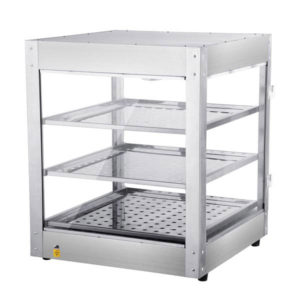 3 Tier Food Warmer Display Case Cabinet 2
