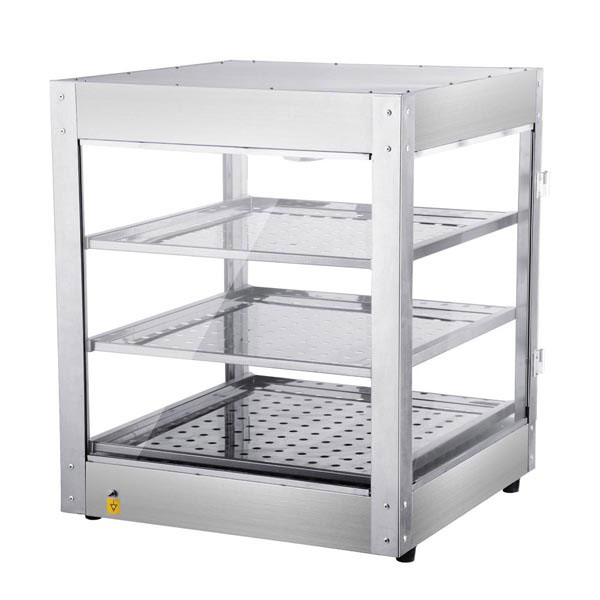3 Tier Food Warmer Display Case Cabinet