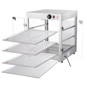 3 Tier Food Warmer Display Case Cabinet 4