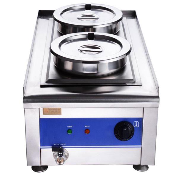 Dual Countertop Buffet Food Warmer Steam Table W 2x 7 Qt