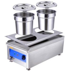 Dual Countertop Buffet Food Warmer Steam Table 5