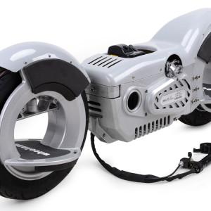 Mototec Wheelman Gas Skateboard - Silver