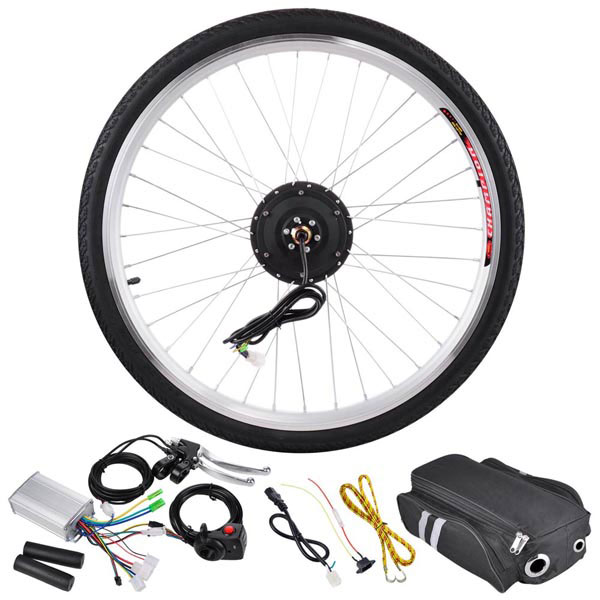34c188f58e4 250 Watt 26 Inch Front Wheel Electric Bicycle Motor Kit 36v -