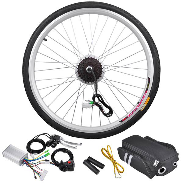 250 Watt 26 Inch Rear Wheel Electric Bicycle Motor Kit 36v