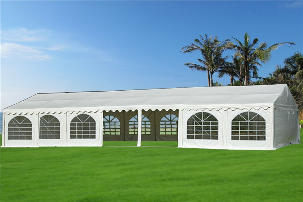 46 x 26 White PVC Party Tent Canopy & x 26 White PVC Party Tent Canopy