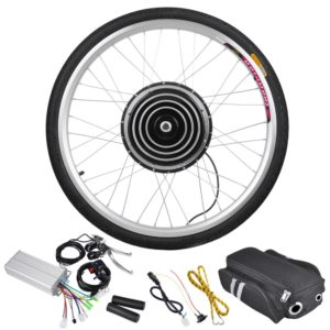 800 Watt 26 Inch Front Wheel Electric Bicycle Motor Kit - 36v