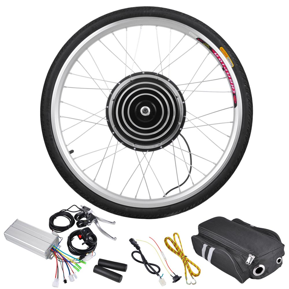 800 Watt 26 Inch Front Wheel Electric Bicycle Motor Kit 36v