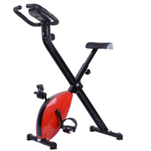 Folding Exercise Bike Magnetic Indoor Cycle - Red 1