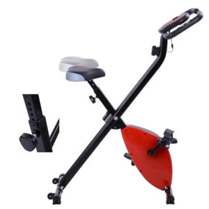 Folding Exercise Bike Magnetic Indoor Cycle - Red 3
