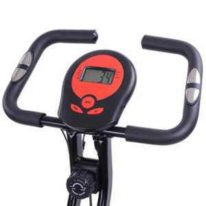 Folding Exercise Bike Magnetic Indoor Cycle - Red 4