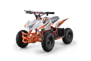 Titan Kids Electric ATV Mini Quad - White 4