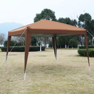 10 x 10 EZ Pop Up Canopy Tent Cafe Brown 2