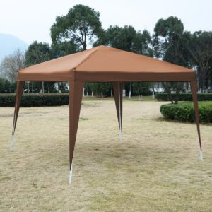 10 x 10 EZ Pop Up Canopy Tent Cafe Brown