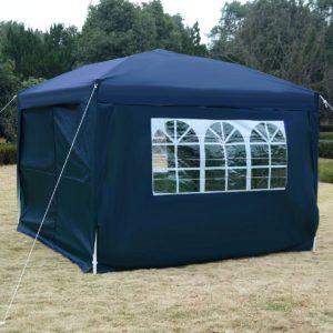 10 x 10 EZ Pop Up Tent Canopy Blue 2