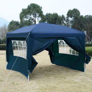 10 x 10 EZ Pop Up Tent Canopy Blue 3
