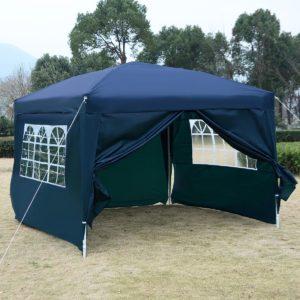 10 x 10 EZ Pop Up Tent Canopy Blue