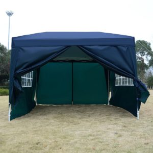 10 x 10 EZ Pop Up Tent Canopy Blue 4