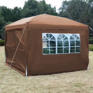 10 x 10 EZ Pop Up Tent Canopy Cafe Brown 3