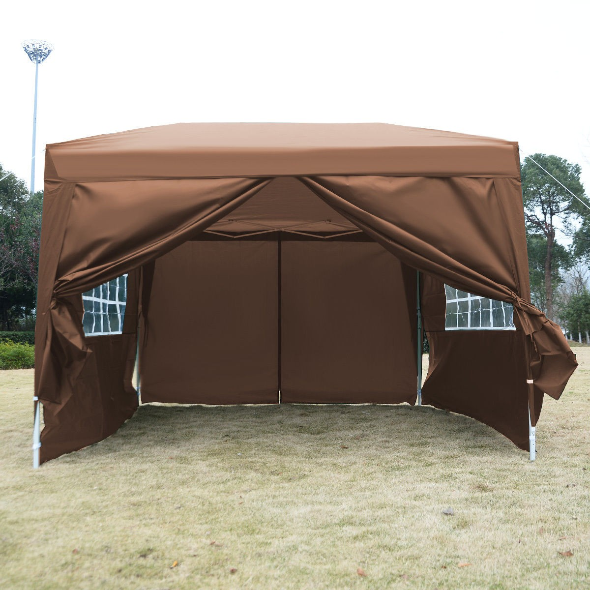 10 x 10 EZ Pop Up Tent Canopy Cafe Brown  sc 1 st  Wholesale Event Tents : brown canopy tent - memphite.com