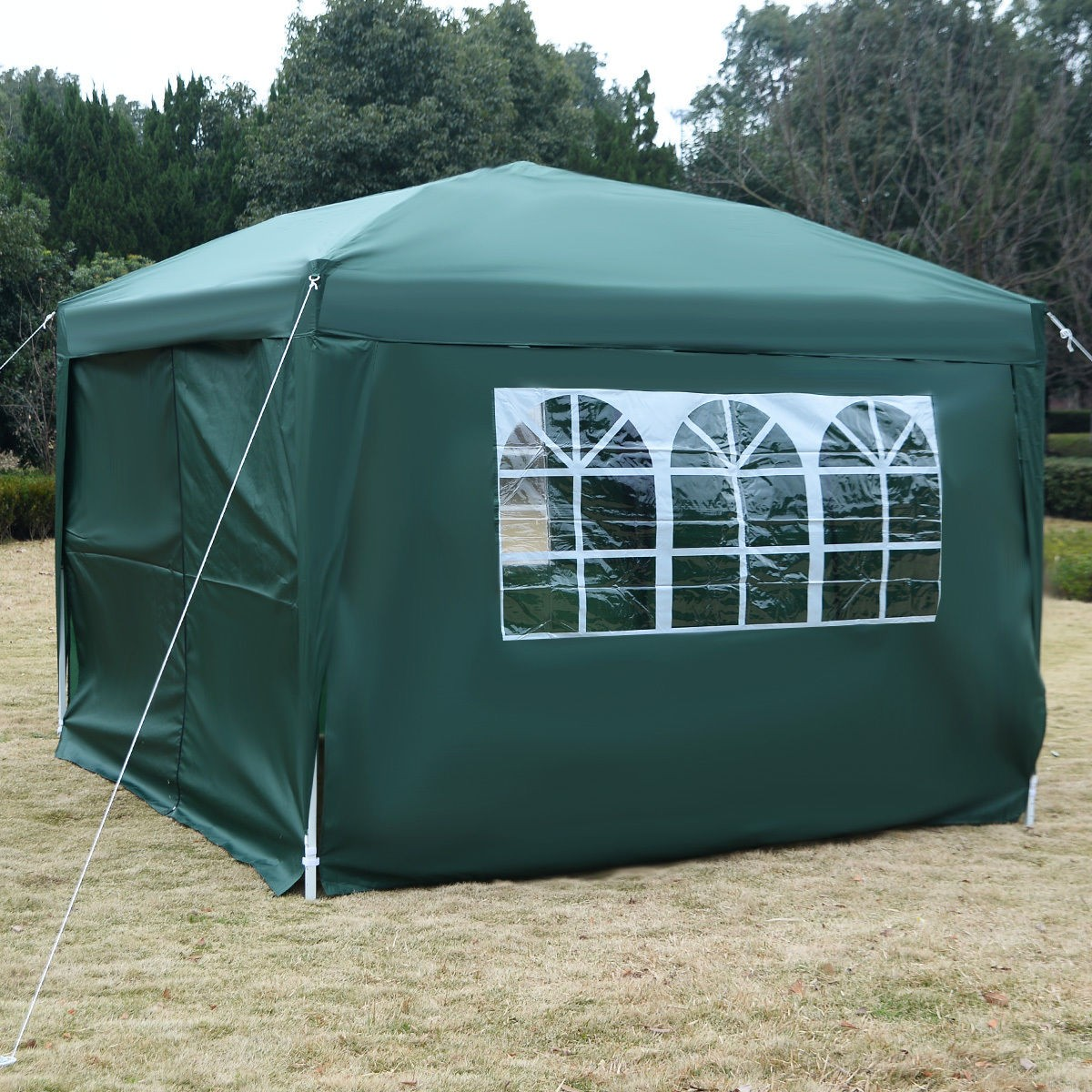 10 x 10 EZ Pop Up Tent Canopy Green 2 & 10 x 10 EZ Pop Up Tent Canopy Gazebo