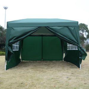 10 x 10 EZ Pop Up Tent Canopy Green 3