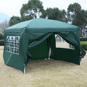 10 x 10 EZ Pop Up Tent Canopy Green