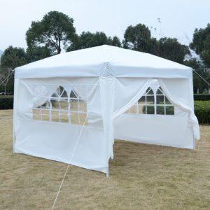 10 x 10 EZ Pop Up Tent Canopy White