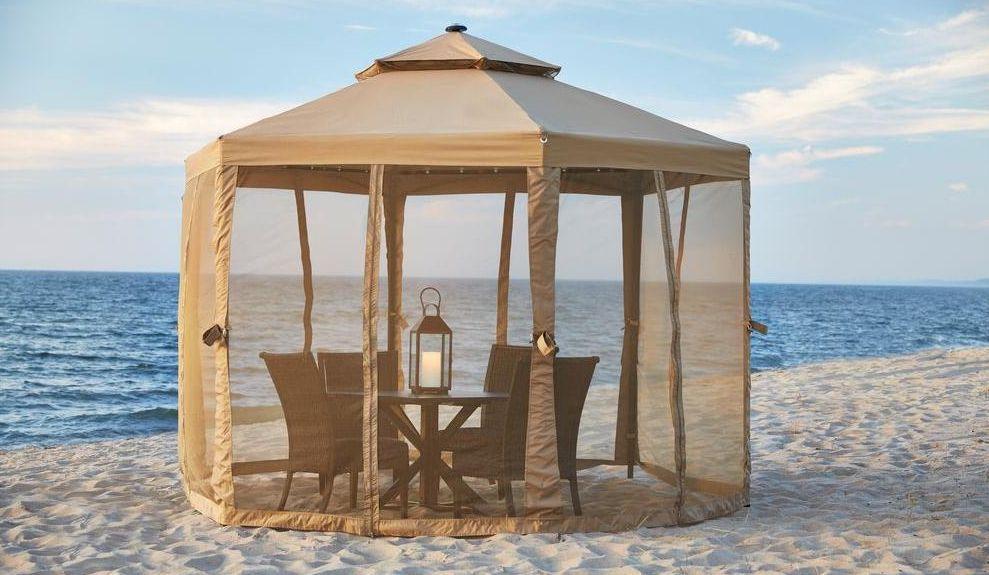 10 x 10 Outdoor Gazebo Canopy w/ Mosquito Netting