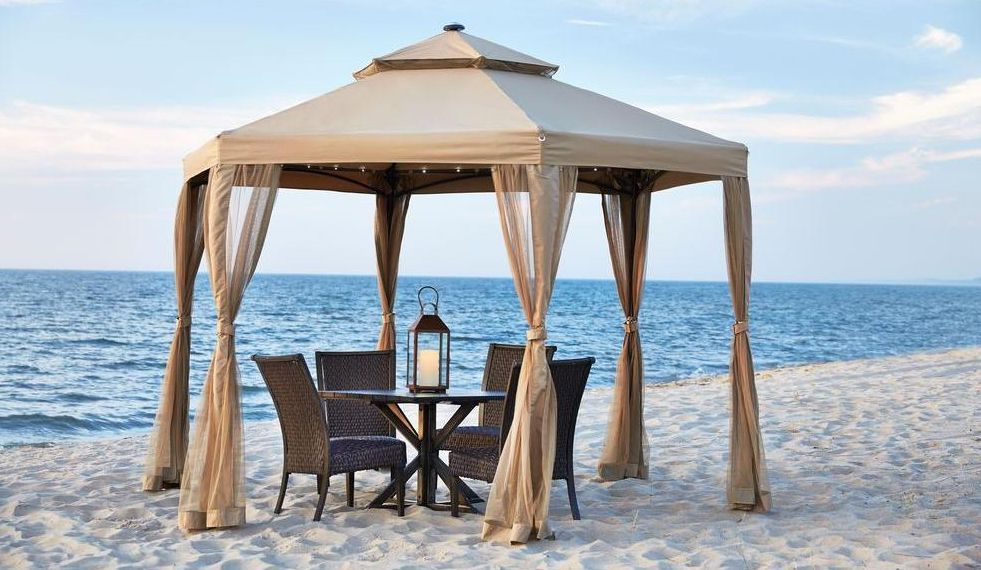 10 X 10 Outdoor Gazebo Canopy W Mosquito Netting