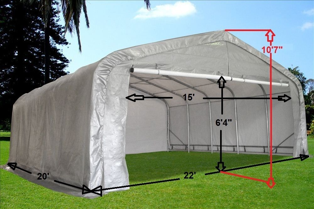 20 X 22 Carport Portable Garage Canopy