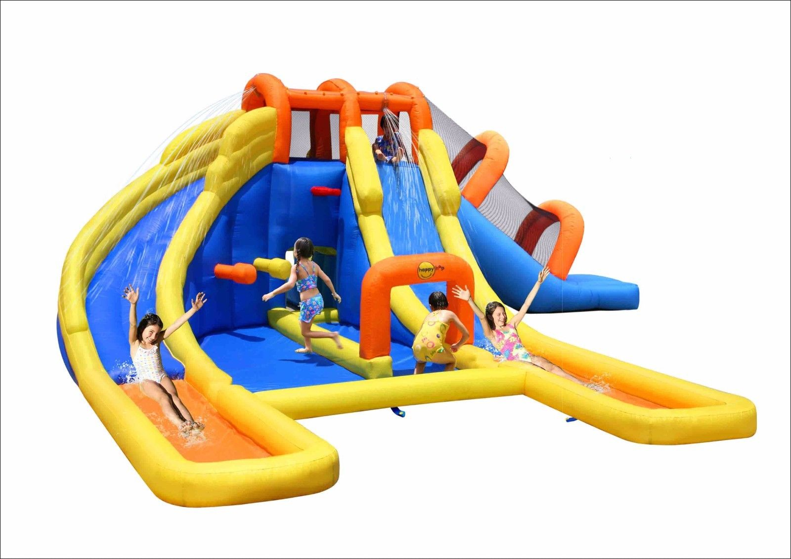 Splash Dual Water Slide Bouncehouse Pool Park Jpg