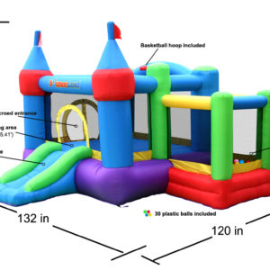 Dream Castle Bounce House Inflatable Bouncer 6