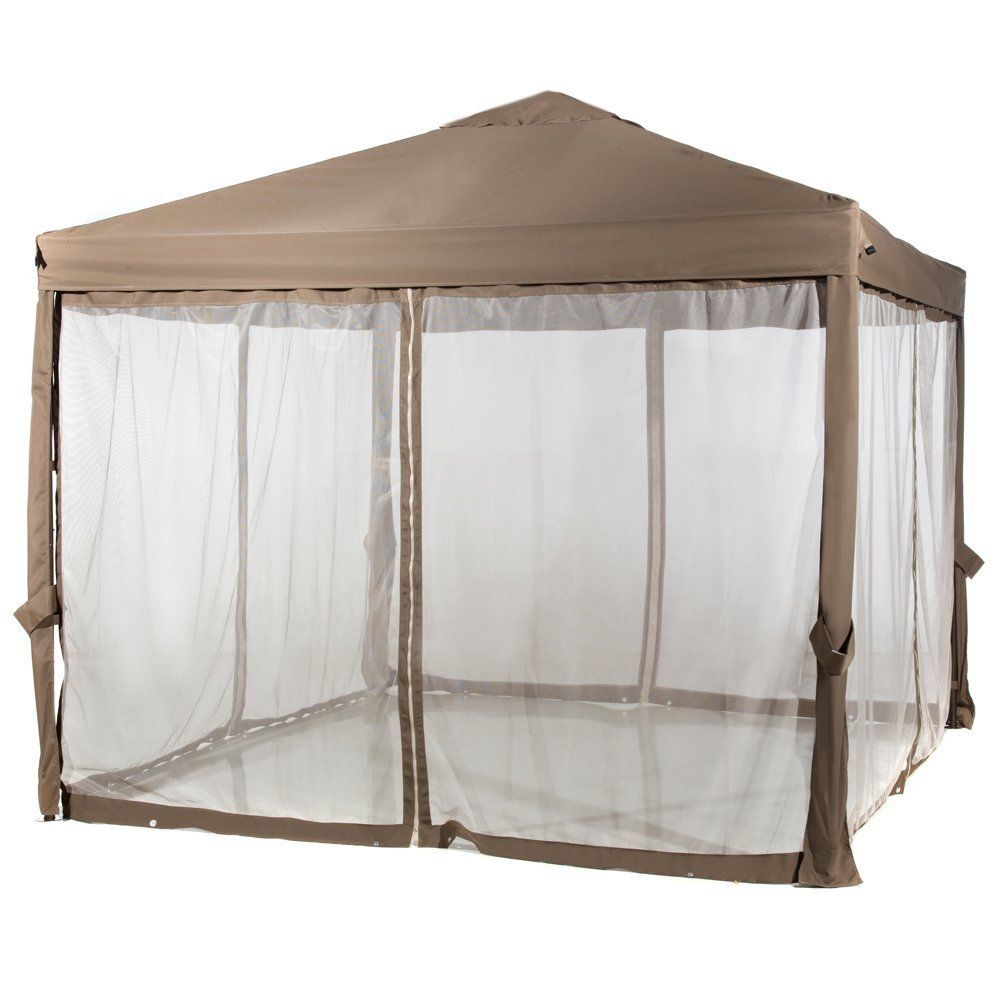 10 x 10 outdoor garden gazebo with mosquito netting - Canopy tent with mosquito net ...