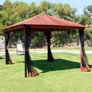 10 x 12 Patio Gazebo Canopy with Mosquito Netting 2