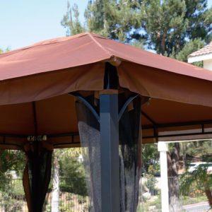 10 x 12 Patio Gazebo Canopy with Mosquito Netting 3