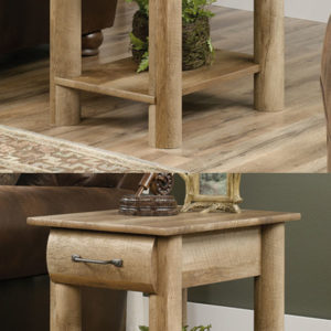2 - Sauder Furniture Boone Mountain Log Cabin End Tables - 416561 Pair