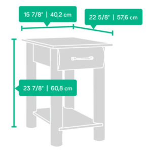 2 - Sauder Furn2 - Sauder Furniture Boone Mountain Log Cabin End Tables - 416561 Pair 5