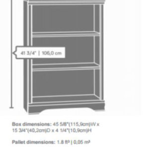 3 Shelf Adjustable Bookcase - Cherry 2