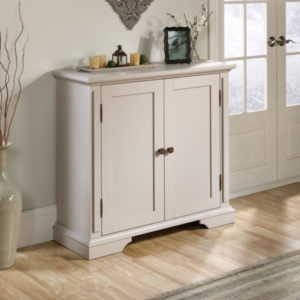 Accent Storage Cabinet - Cobblestone White