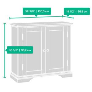Accent Storage Cabinet - Cobblestone White 7