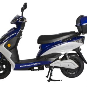 Cabo Cruiser 600 Watt Electric Scooter Moped - Blue 3